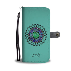 Personalized Mandala Wallet Phone Case Add Your Name