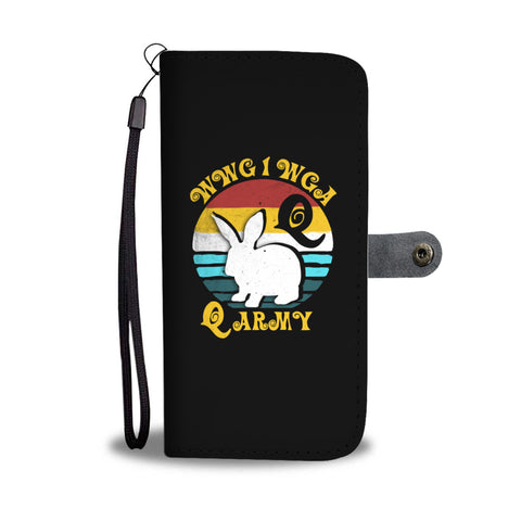 WWG1WGA White Rabbit Qanon Wallet Phone Case