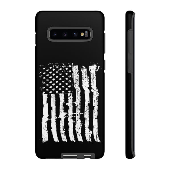 USA Flag Black Tough Phone Case for iPhone and Galaxy