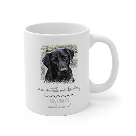 Black Labrador Rescue Mom Dad Mug