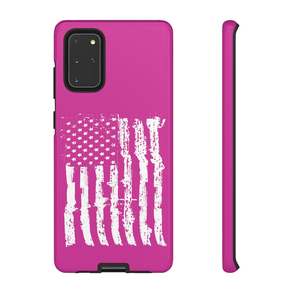 USA Flag Pink Tough Phone Case for iPhone and Galaxy