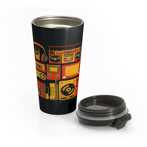1980s Boom Box Stainless Steel Travel Mug