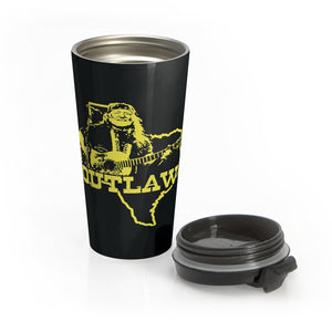 Outlaw Willie Nelson Stainless Steel Travel Mug