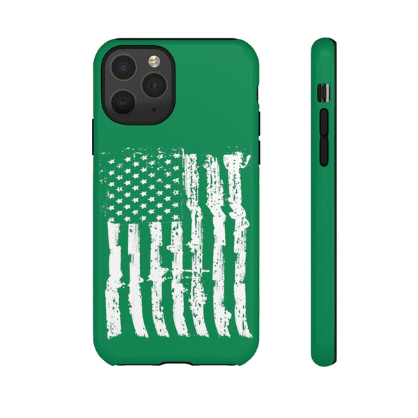 USA Flag Green Tough Phone Case for iPhone and Galaxy
