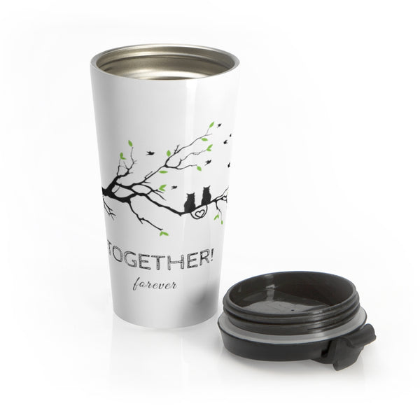 Together Forever Cats Stainless Steel Travel Mug