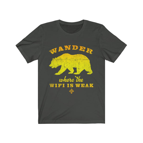 Wander Where The WIFI is Weak Unisex T Shirt