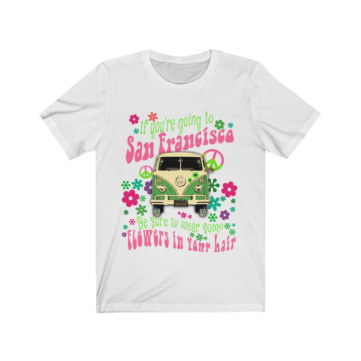 1960's Music Lyrics Hippie Van T Shirt