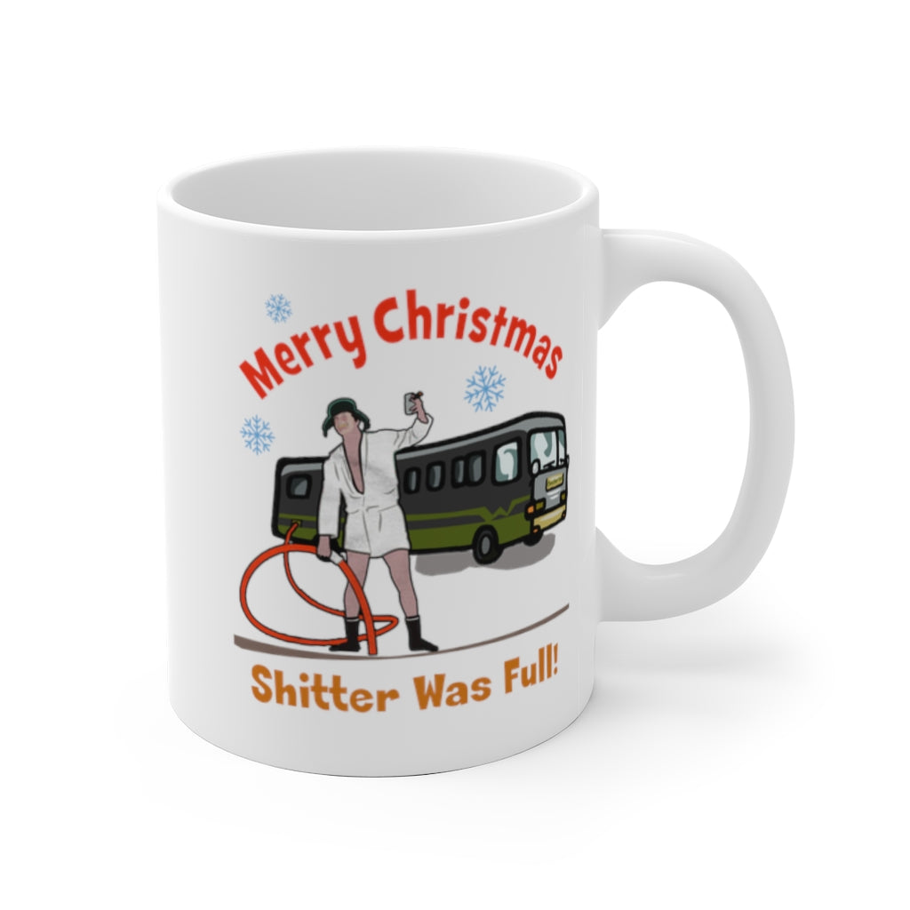 Merry Christmas Shitter Was Full Mug Rv Camper Camping Gift