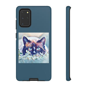 Cat Design Tough Phone Case for iPhone and Galaxy