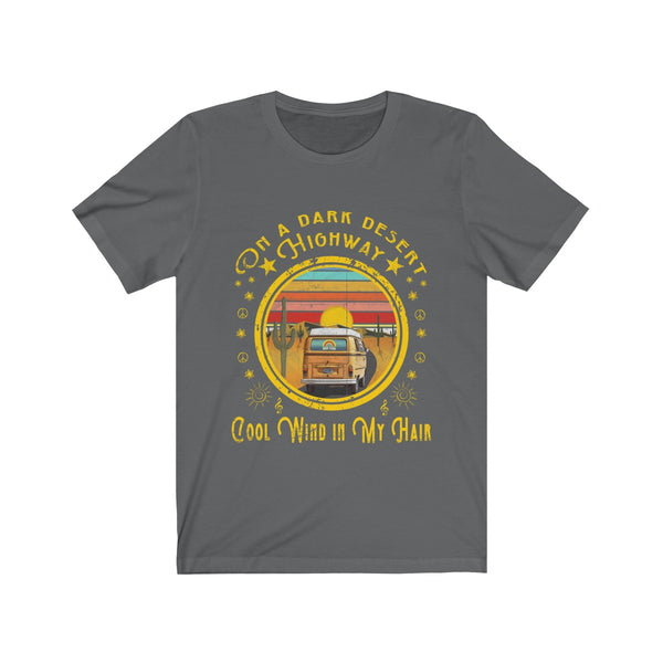 Vintage T-Shirt Song Lyrics On A Dark Desert Highway Cool Wind In My Hair