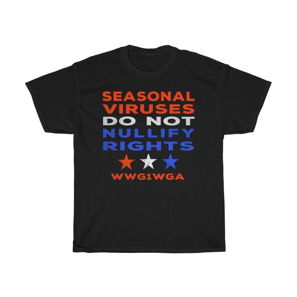 Patriotic End Lockdowns Triggered Emotions Do Not Nullify Rights - Q anon PROTEST T-Shirt