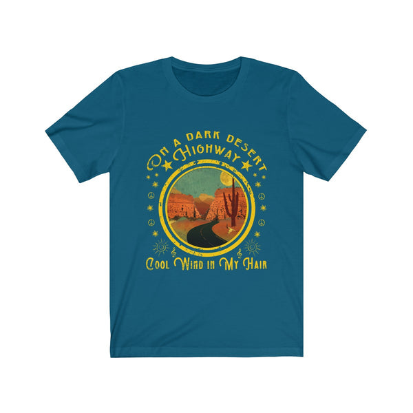 Song Lyrics Tshirt On A Dark Desert Highway Cool Wind In My Hair