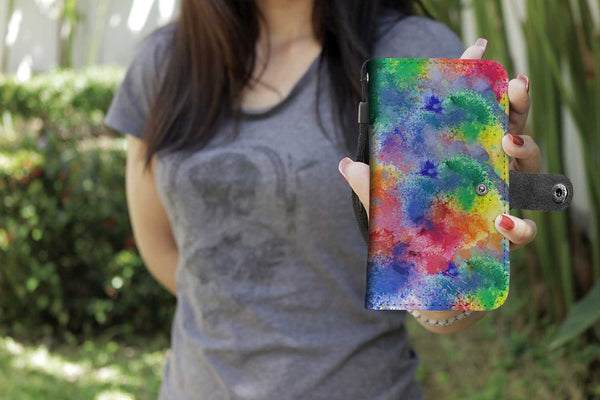 Tie Dye Color Splash Wallet Phone Case