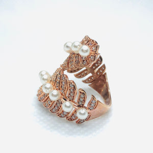 Rose Gold Conifer Ring