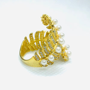 Gold Conifer Ring