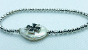 "Elastic ""Thick Cross"" Bracelet"