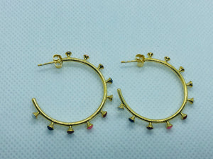 Outer Gold Multi-Color Earrings