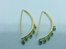 Load image into Gallery viewer, Gold Zircon Earrings