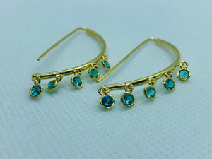 Gold Zircon Earrings