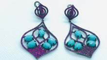 Load image into Gallery viewer, Aqua Earrings