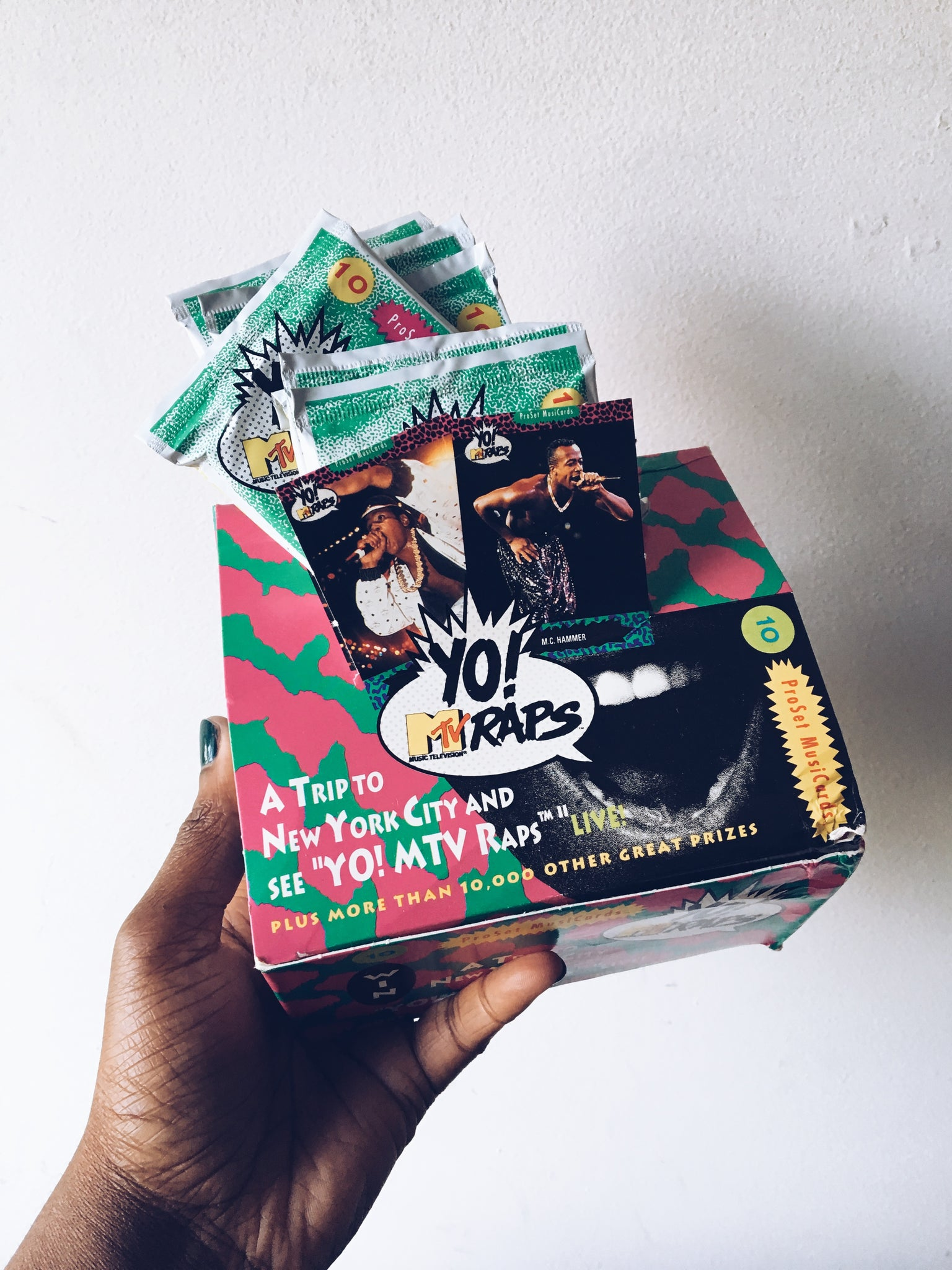 Vintage 90's YO! MTV Raps Trading Card Packs