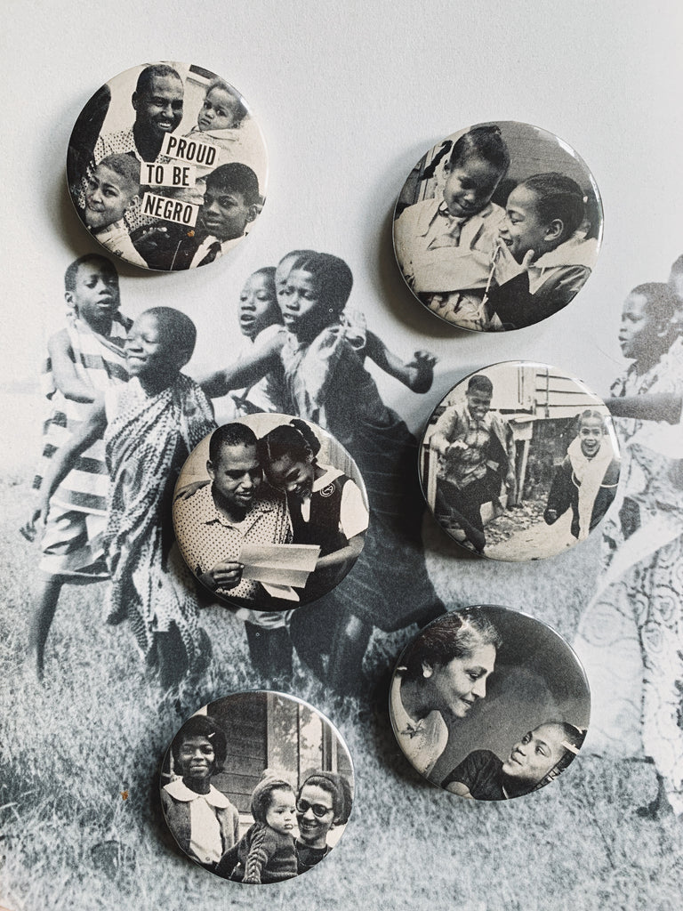 Handmade BLK Collage Pins // BLK Family Collection