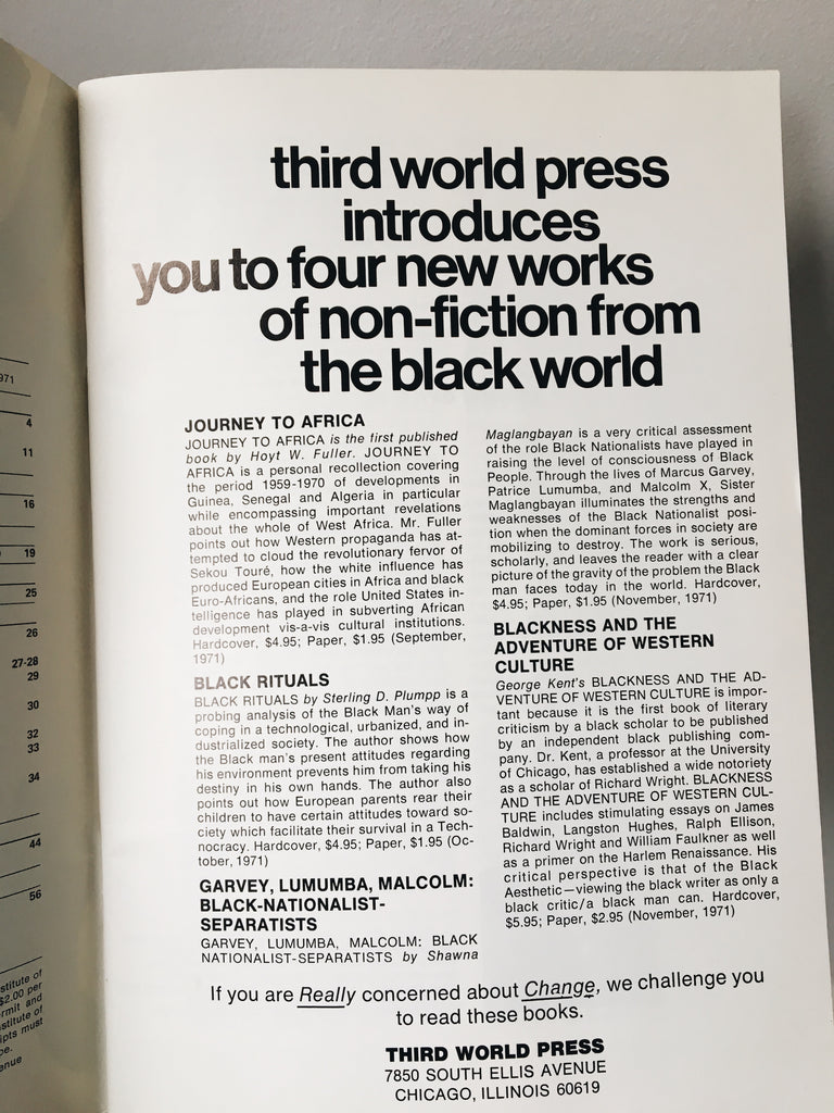 "Vintage Issue of ""Black Books Bulletin"" (Volume 1, Issue 1 // 1971)"