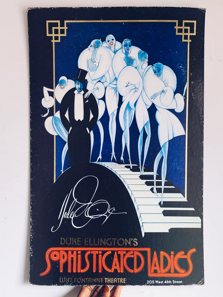 "Vintage ""Duke Ellington's Sophisticated Ladies"" Broadway Original Poster (1981)"