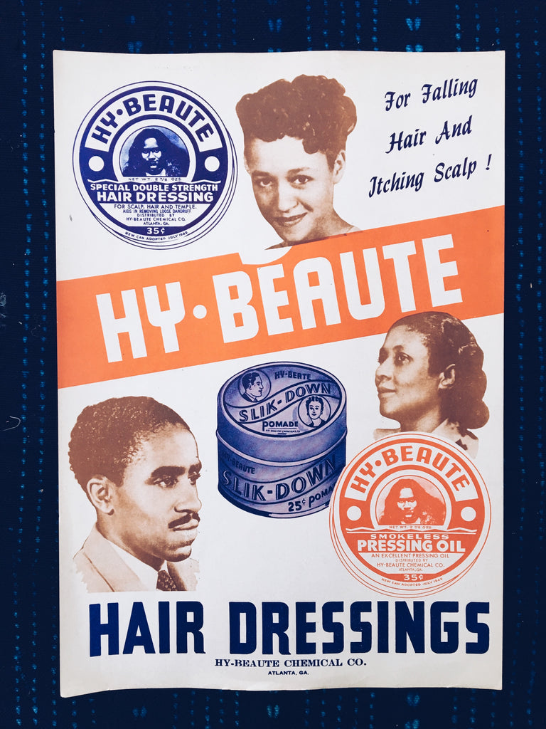 Rare Vintage Hy-Beaute Hair Dressing Poster (1949)