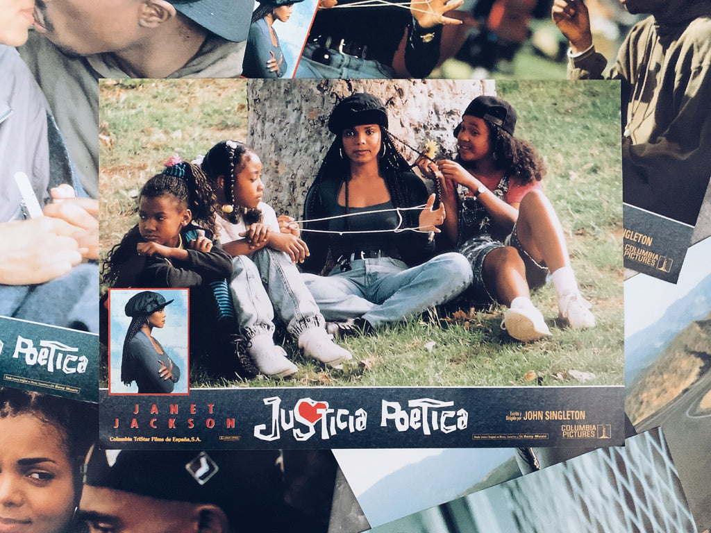 "Vintage ""Poetic Justice"" Promotional Lobby Card Posters (Spanish, 1993)"