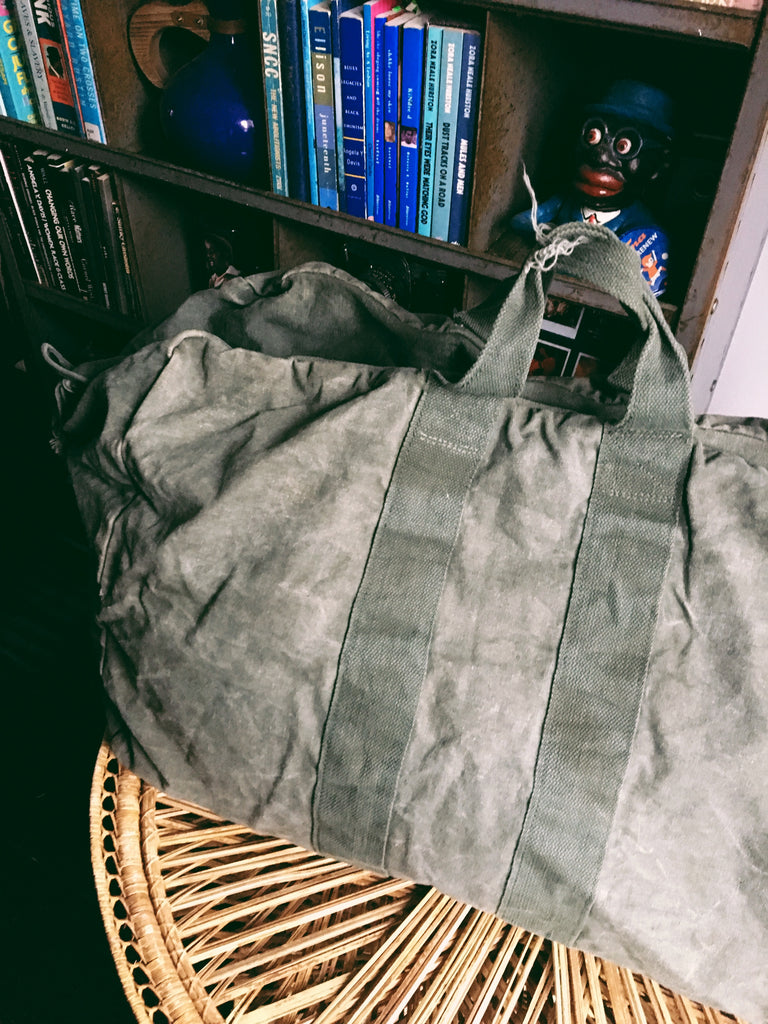 Vintage Air Force Parachute Duffel Bag
