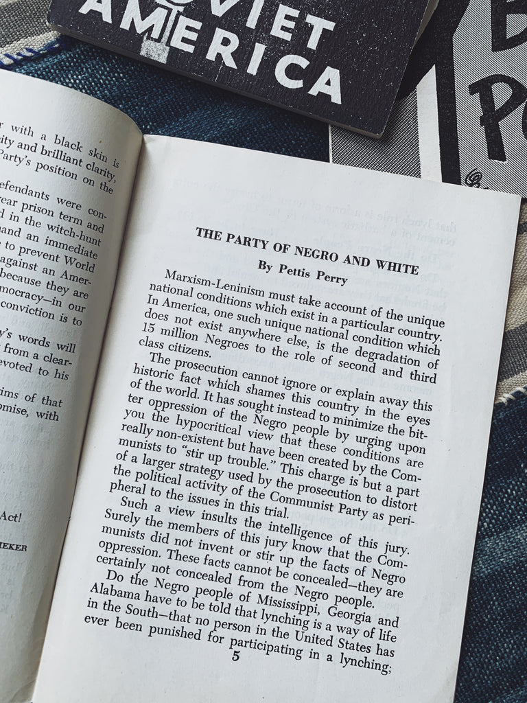 "Vintage ""The Party of Negro and White"" by Pettis Perry (1953)"