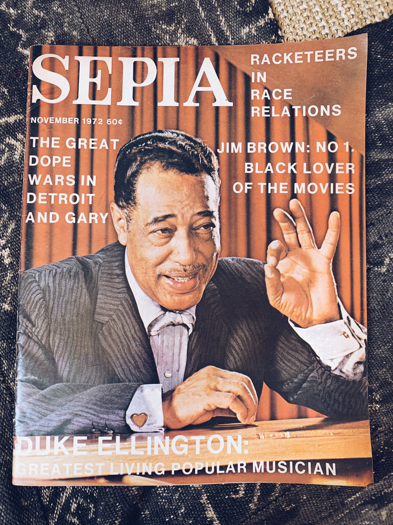 Vintage Sephia Magazine // Duke Ellington Cover Story (November 1972)