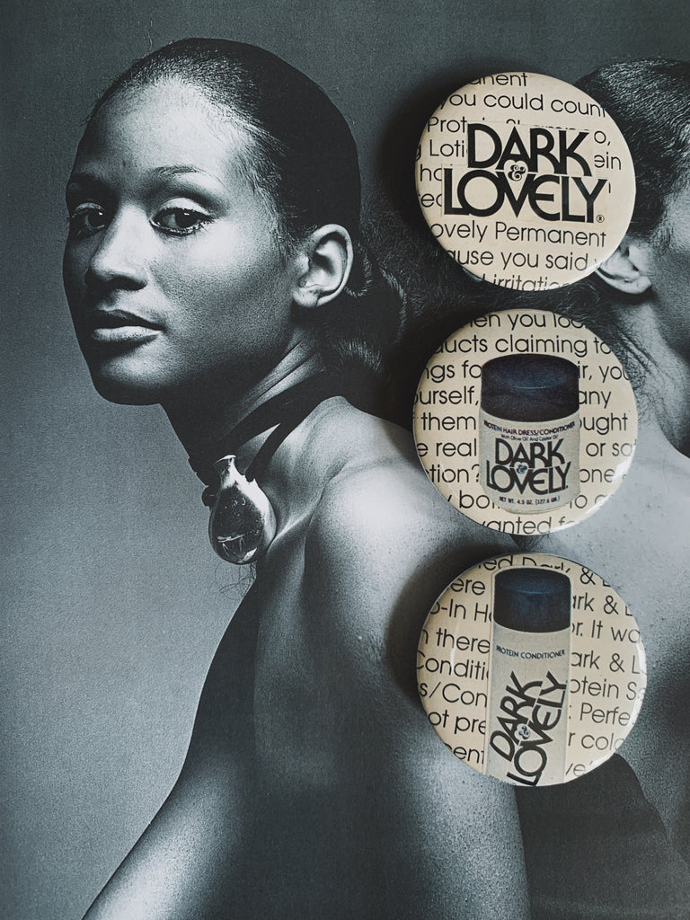 Handmade BLK Collage Pins // Dark & Lovely Collection