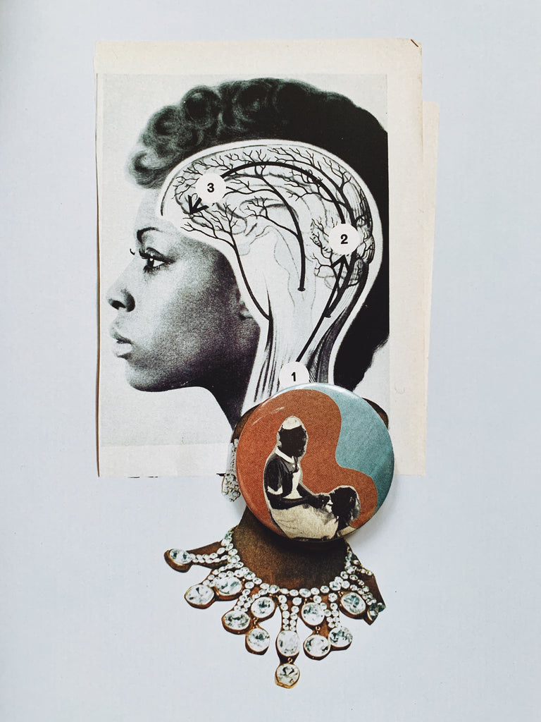 Handmade BLK Collage Pins // Afro Blue Collection