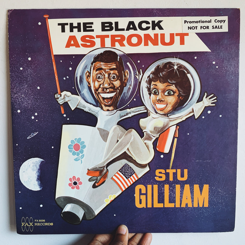 "Vintage Stand-Up Comedy ""The Black Astronaut"" by Stu Gillam Vinyl Record (Rare, Mid-1950's)"