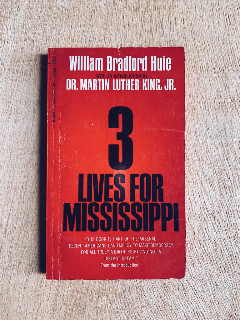 "Vintage Softcover ""3 Lives for Mississippi"" by William Hule (1st Ed., 1968)"