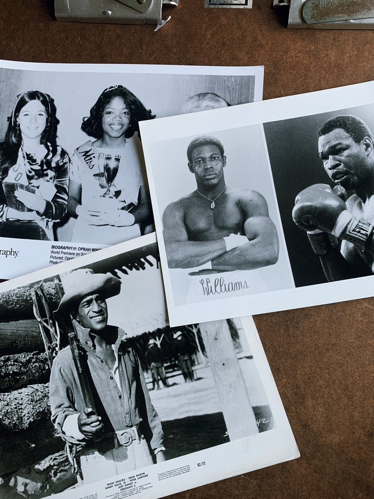 Vintage 1970's-80's Celebrity Still Photos (Oprah, Sammy Davis Jr., Larry Holmes & Carl Williams)
