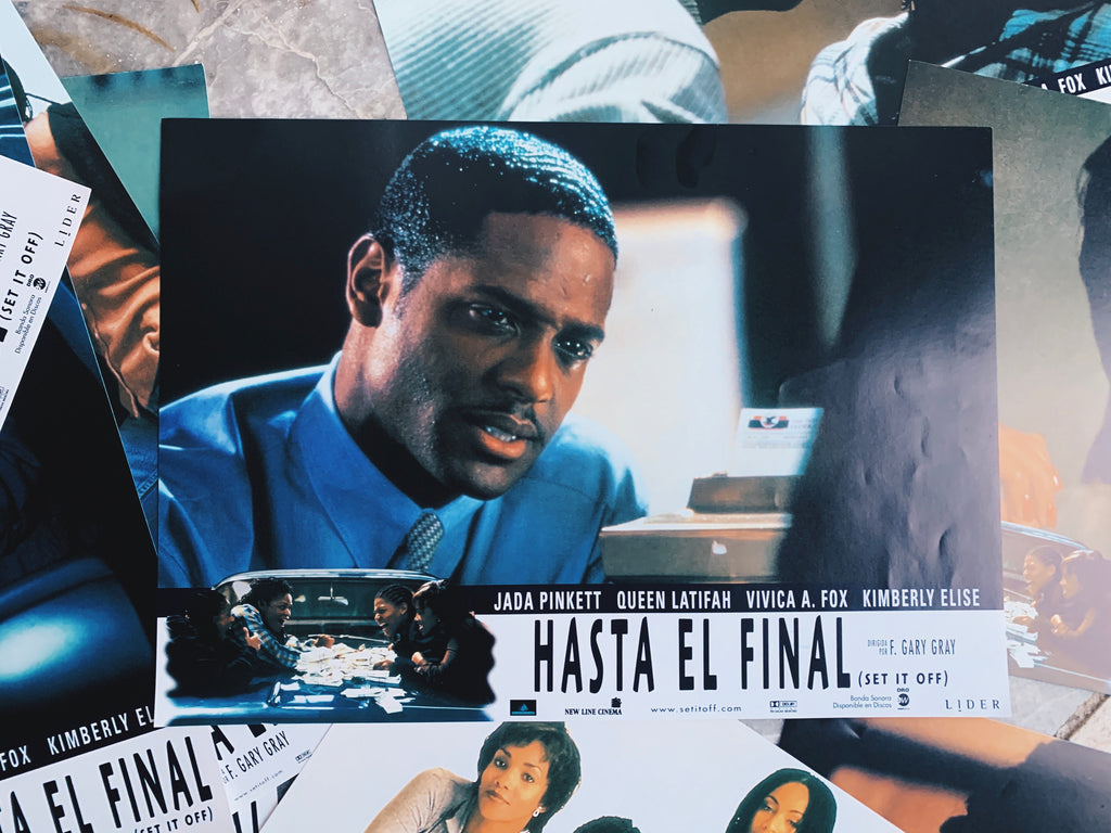 "Vintage ""Set If Off"" Promotional Lobby Card Posters (Spanish, 1996)"