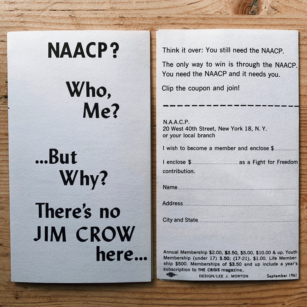 Vintage NAACP (NY Chapter) Post-Integration Membership Pamphlet (1961)