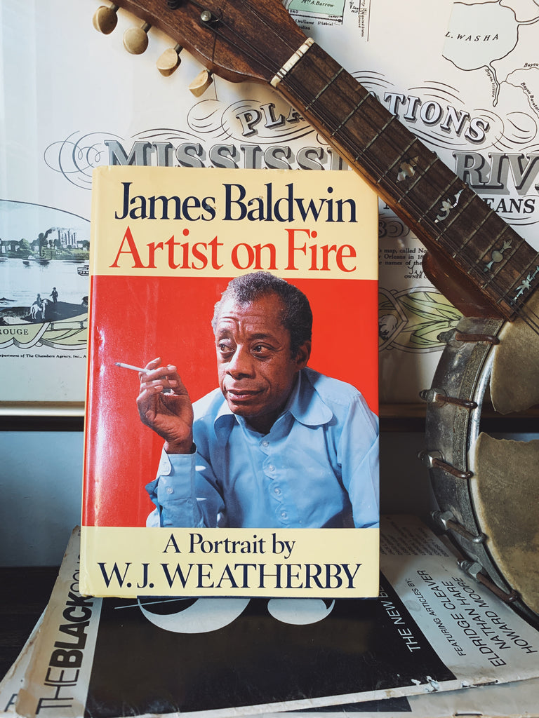 "Vintage Hardcover ""James Baldwin: Artist on Fire"" by W.J. Weatherby (1989)"