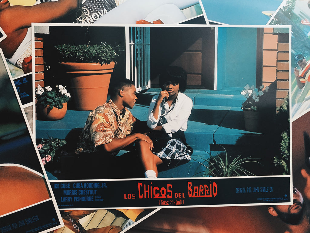 "Vintage ""Boyz In The Hood"" Promotional Lobby Card Posters (Spanish, 1991)"
