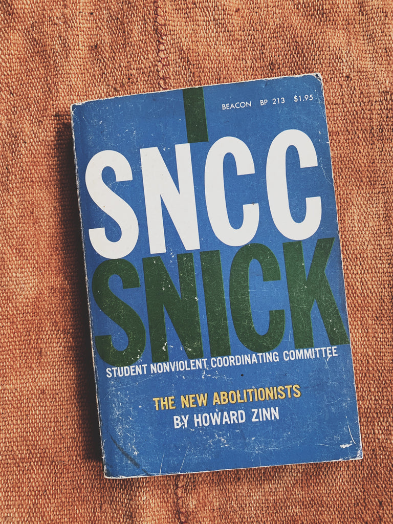 "Vintage softcover ""SNCC: The New Abolitionists"" by Howard Zinn (1968)"
