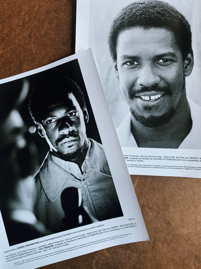 "Vintage ""Cry Freedom"" Still Promotional Photos (Denzel Washington as Steve Biko)"
