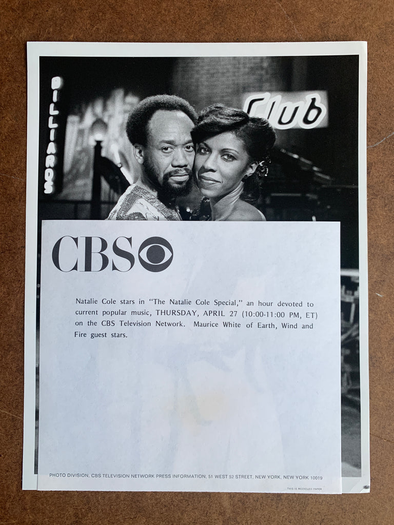 Vintage 1970's Celebrity Still Photos (Natalie Cole, Maurice White & Johnny Mathis)