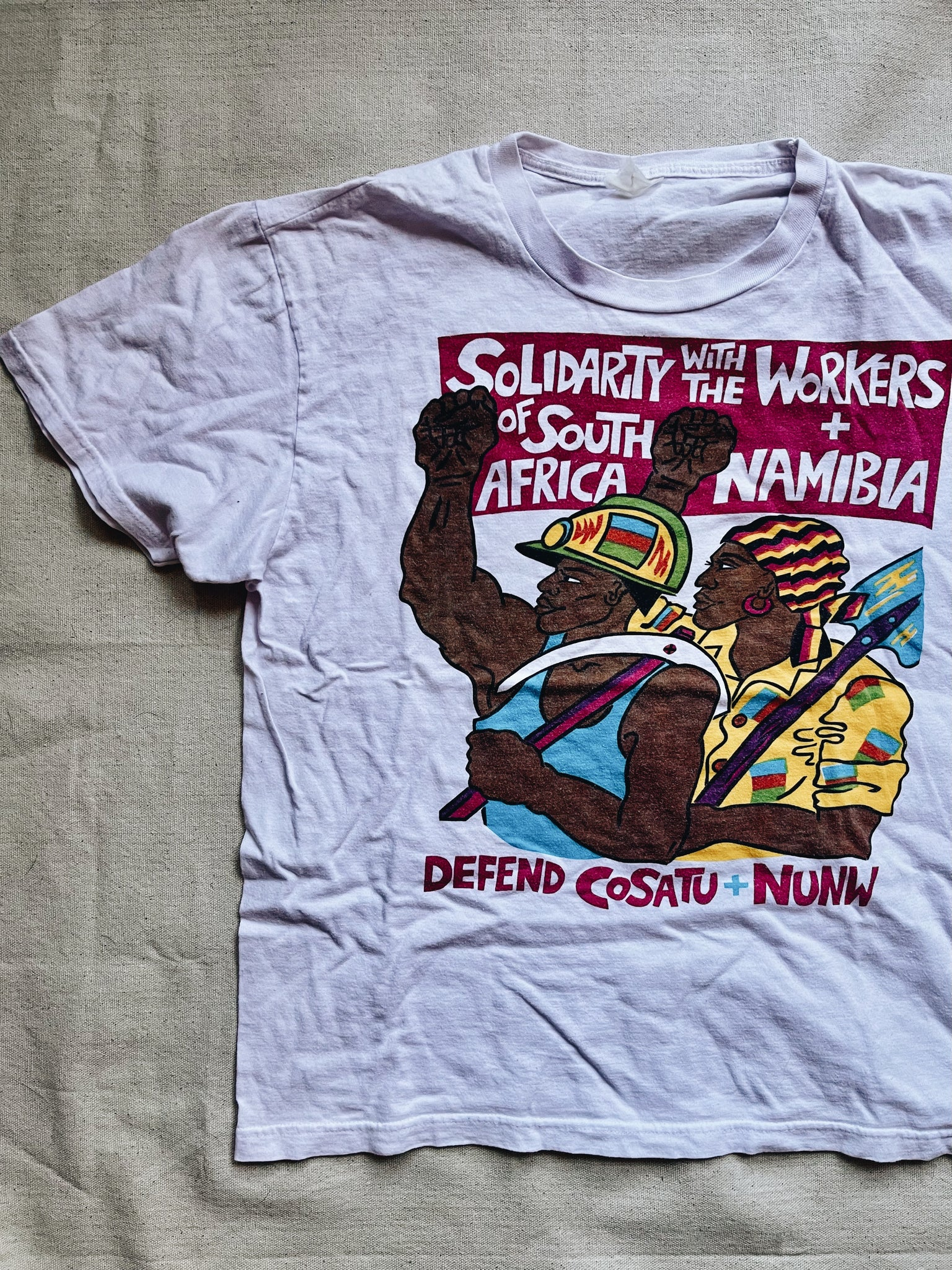 Vintage Rare Anti-Apartheid T-Shirt (United Kingdom, 1988)