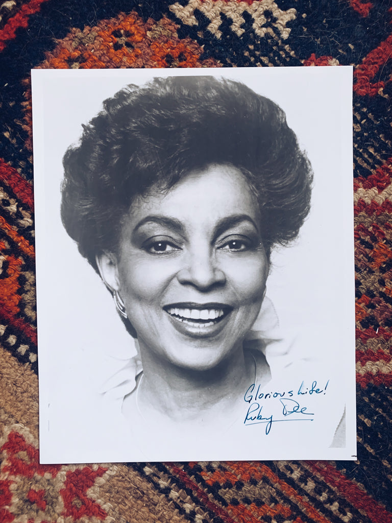 Vintage SIGNED Ruby Dee Black/White Portrait