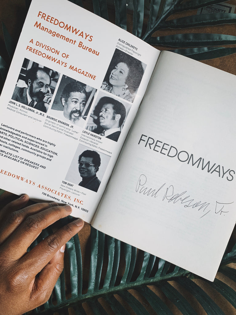 Vintage Freedomways Journal SIGNED by Paul Robeson Jr. (1978)