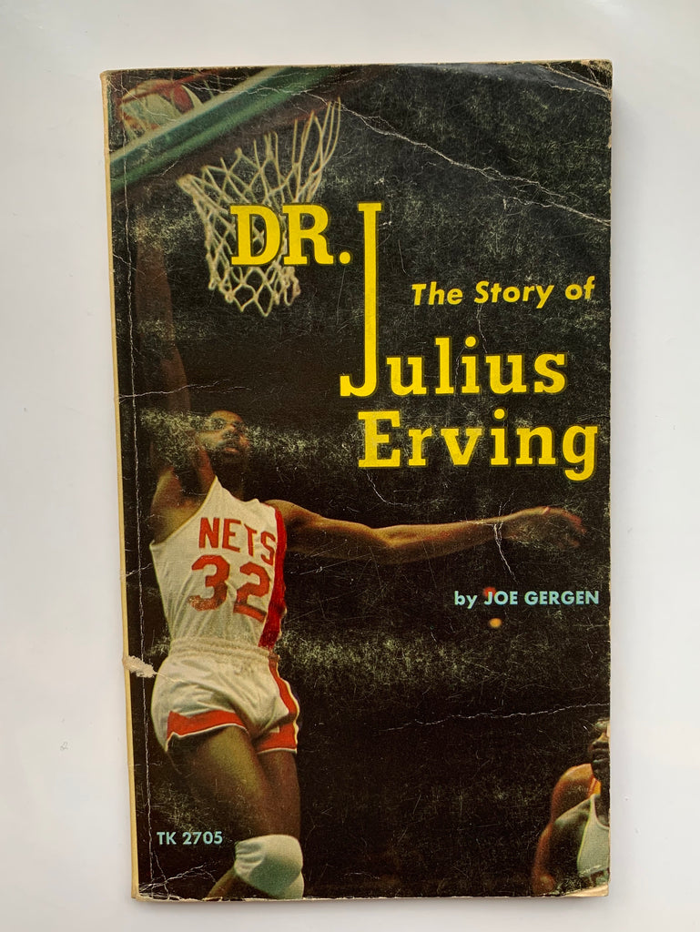 "Vintage Paperback Book, ""Dr. J: The Story of Julius Erving"", by Joe Gergen"