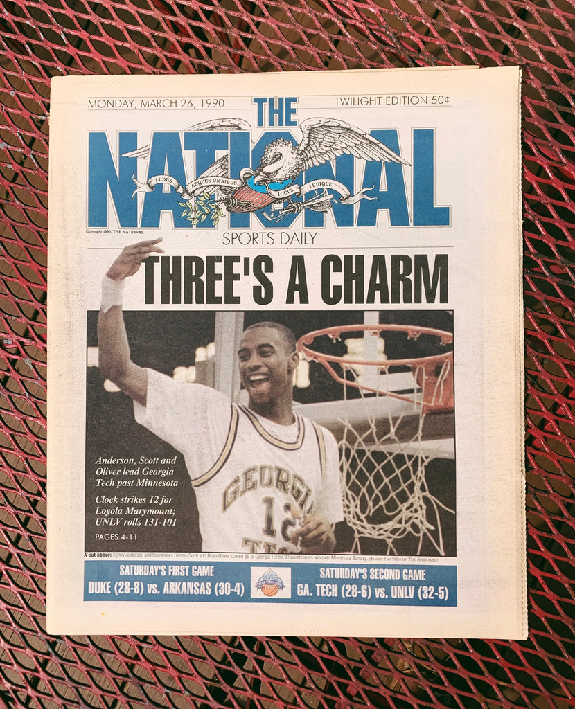 "Vintage ""The National"" Sports Newspaper// March Madness- 1990 (Rare Jordan Centerfold) Select from menu"